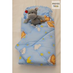 Pihetex Kék felhős maci pólya kispárnával