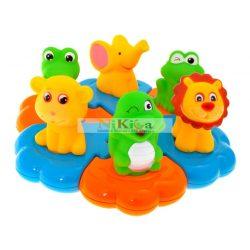 Fürdőjáték, állatkák úszó szőnyegen