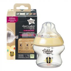 Tommee Tippee Closer to Nature cumisüveg 150ml- sárga,mintás