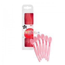 Tommee Tippee Essential basics kanál 6 db rózsaszín
