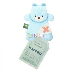 Nattou plüss szundikendő hideg/meleg terápiás gélpárnával BuddieZzz - medve