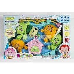 Baby Bruin Plüss Gyümölcsös forgó zenélő játék