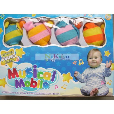 Baby Bruin Forgó zenélő világítós plüss halacskás