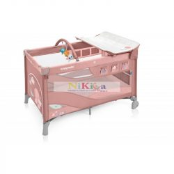 Baby Design Dream multifunkciós utazóágy Pink