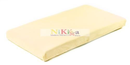 Gumis, matracvédő lepedő 60x120 cm - sárga
