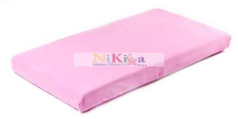 Gumis matracvédő lepedő 60x120 cm - rózsaszín