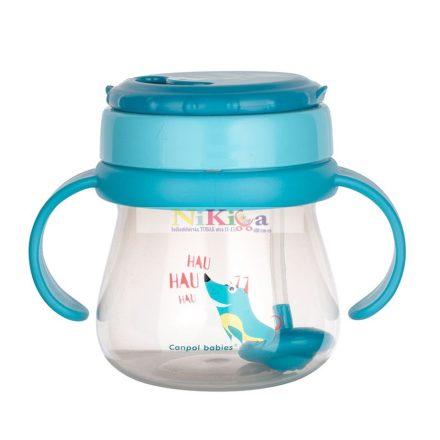Canpol Itató pohár szívószállal 250 ml 56/517 turkus