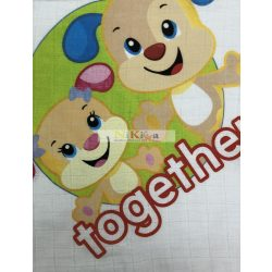 Disney mintás textil pelenka 70x70 Fisher Price