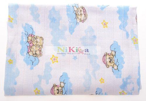 Apró mintás 1 db-os textil pelenka kék