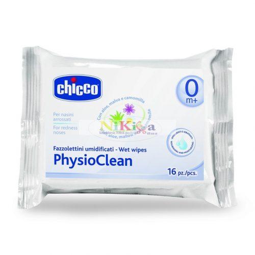 Chicco PhysioClean nedves orrtörlő-kendő 16 db