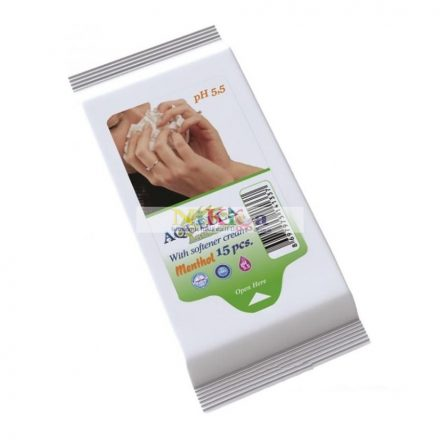 Aquella antibakteriális higiéniai kendő, 15 lapos - mentolos
