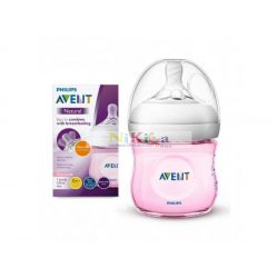 Avent Natural 125 ml-es cumisüveg Pink SCF031/17
