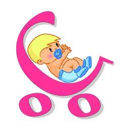 Elefántos hímzett babakifogó 75x120 cm pink