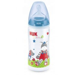 NUK First Choice+ műanyag 300 ml-es cumisüveg 0-6m+ blue