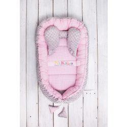 Babafészek minky  sweet baby plüss - pink