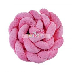 LUXUS minky, fonott fejvédő kiságyba - róz